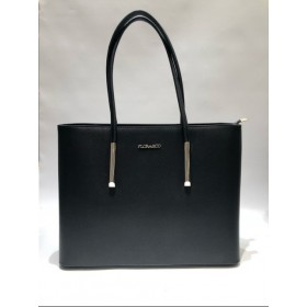 Flora & Co | F5717 Shopper Saffiano | Zwart