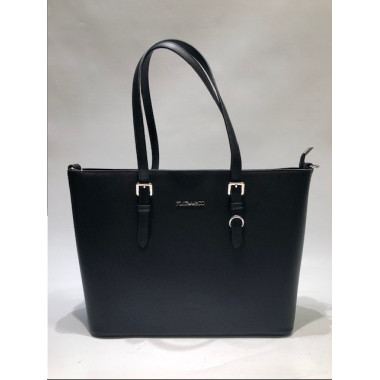 Flora & Co | F9126 Shopper Saffiano | Zwart