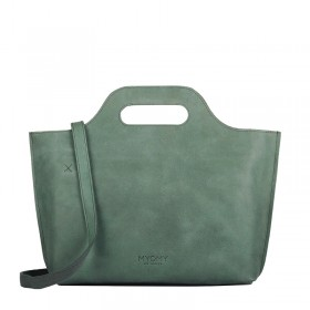 MYOMY | My Carry Bag Handbag | Hunter Forest Green