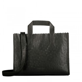 MYOMY | My Paper Bag Handbag cross-body | Ostrich Black