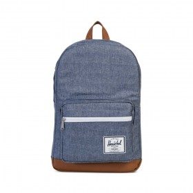 Herschel | 10011 Pop Quiz | 15 inch | 1570 Dark Chambray Crosshatch