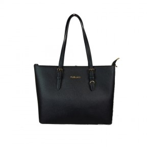 Flora & Co | K9179 Shopper Saffiano | Zwart