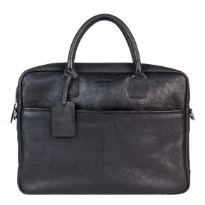 Burkely | Antique Avery laptopbag 15'' | Zwart