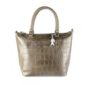 By LouLou | 04BAG04S vintage croco | taupe