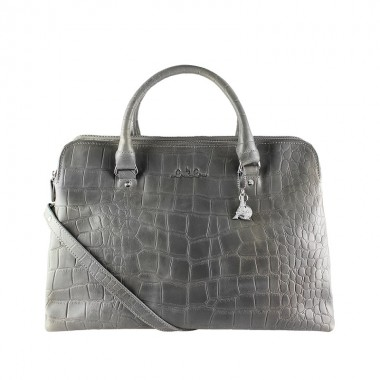 By LouLou | 12Bag04S Vintage Croco | Grey