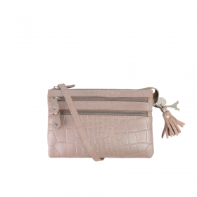 By LouLou | 04POUCH120S Croco | Rose