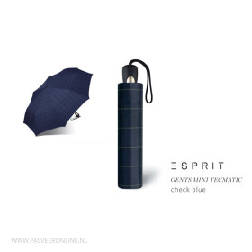 Esprit Paraplu | Gents Mini | Check Blue