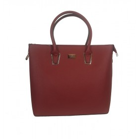 Flora & Co | F9246 Shopper Saffiano | Bordeaux
