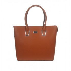 Flora & Co | F9246 Shopper Saffiano | Camel