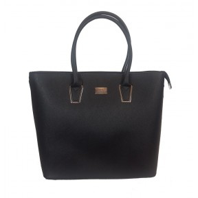 Flora & Co | F9246 Shopper Saffiano | Zwart