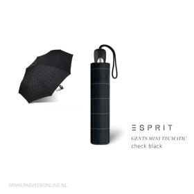 Esprit Paraplu | Gents Mini | Check Black