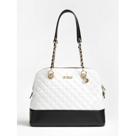 Guess | Illy Quilted Shoulder Bag | White Multi