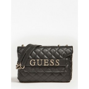 Guess | Illy Quilted Crossbody | Black