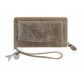 By LouLou   SLB04S Vintage Croco   Taupe