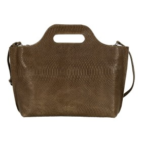 MYOMY | My Carry Bag Handbag | Anaconda Taupe