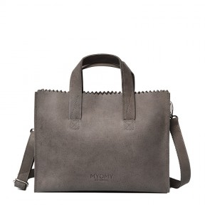 MYOMY | My Paper Bag Handbag zip | Taupe