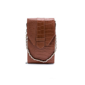 Mosz | Phone Bag Croco | Cognac