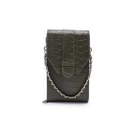 Mosz | Phone Bag Croco | Moss