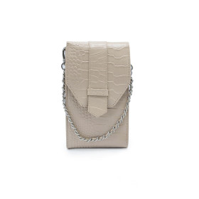 Mosz | Phone Bag Croco | Taupe