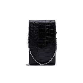 Mosz | Phone Bag Croco | Black