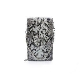 Mosz | Phone Bag Python | Black - Grey