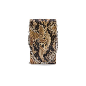 Mosz | Phone Bag Python | Brown - Chocolate