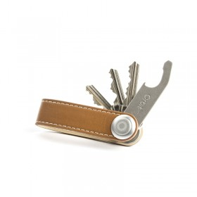 Orbitkey | ORB-LTH | TAN WITH WHITE STITCHING