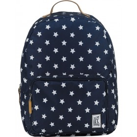 The Pack Society | Classic Backpack | Navy with with stars