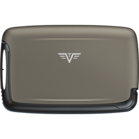 Tru Virtu | Card Case Silk Line | Taupe Rock