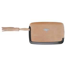 Tru Virtu | Card Case Leather Line | Lizard Sand